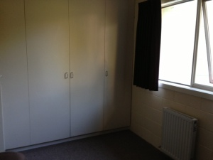 Closet and Window (Left Hand Side of the Room)