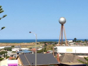 View of Warrnambool, the Ocean, and the Water Tower