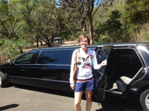 Posing with the Limousine