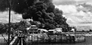Darwin bombing in 1942  Image from http://www.australiangeographic.com.au/