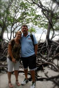 Mom and Dad in the mangroves