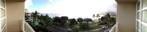panoramic view from our hotel room