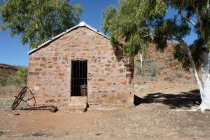 one of the telegraph station buildings