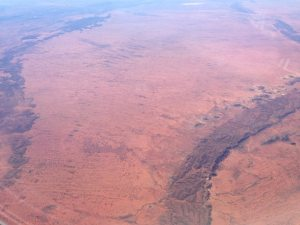 My first view of the outback from the airplane