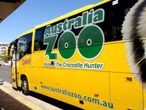 The Australia Zoo shuttle bus